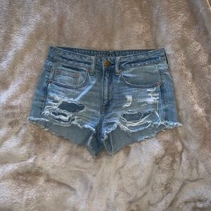 AE distressed high waisted shorts